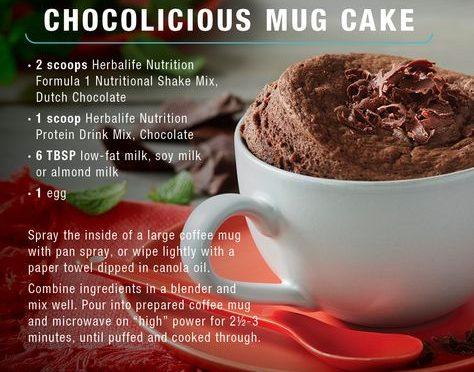 Шоколадный торт в кружке